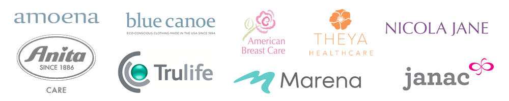 Brands of mastectomy products carried in Burlington Store