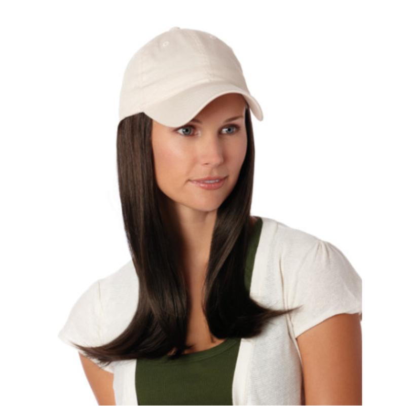 Long hair under cap