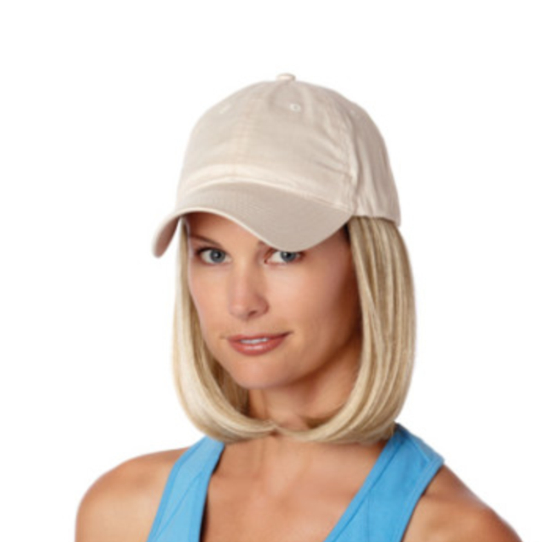 med blond with beige cap
